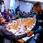 Buhari meet Anthony joshua in london