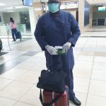 Dele momodu spotted wearing mask and Grove at lagos Airport