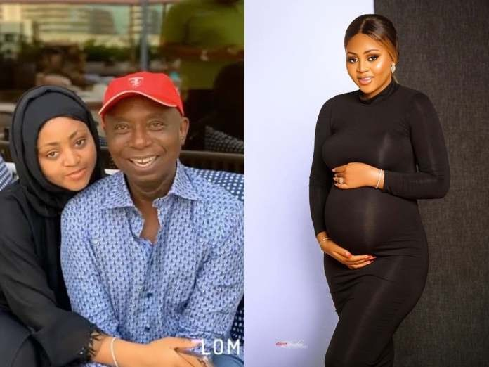Regina Daniels Shows Baby Bump