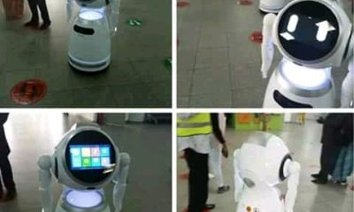 Video Of Robots Working At Abuja Airport
