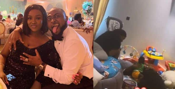 Davido and Chioma chilling with their son Ifeanyi