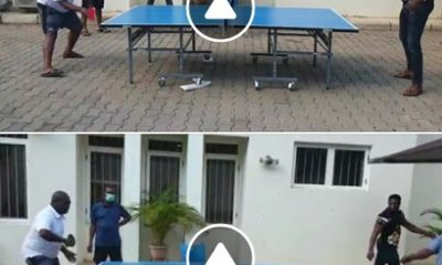 Okezie Ikpeazu Playing Table Tennis