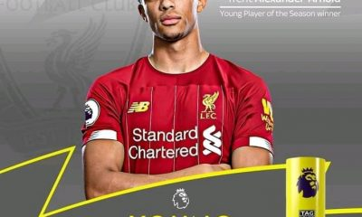 Alexander-Arnold Wins 2019/2020 Premier League Young Player Of The Season