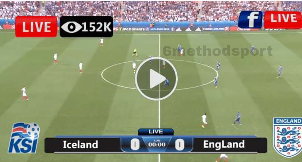 Watch England vs Iceland