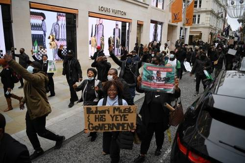 Pictures of #Endsars Protesters Across Europe