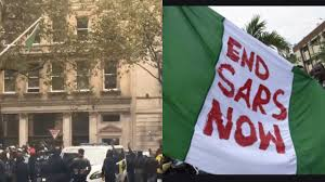 Protesters Pull Down the Nigeran Flag