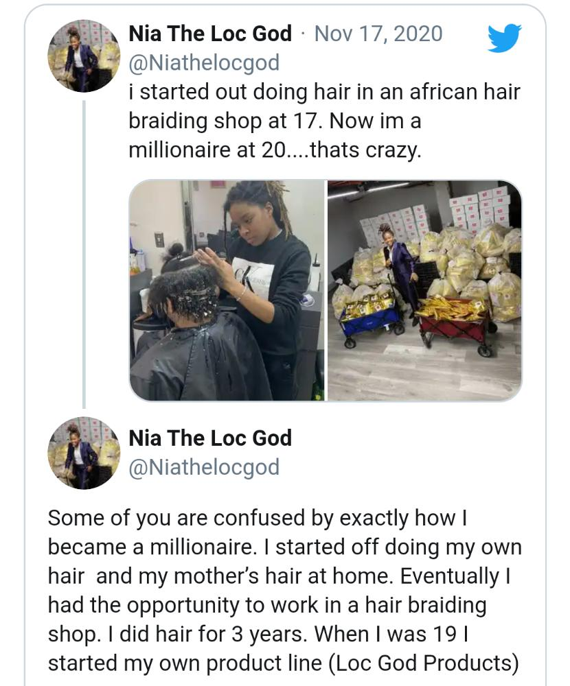 hairdresser at 17 becomes a millionaire at 20