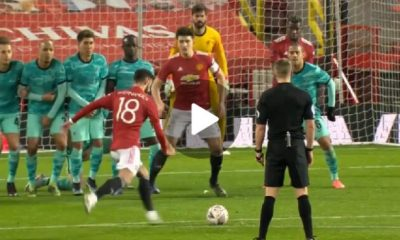 Bruno Fernandes wonderful Free kick