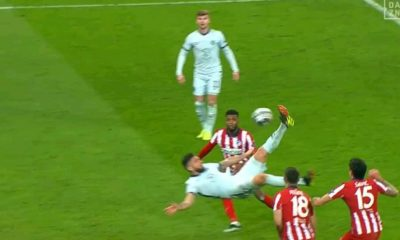 Watch Giroud overhead kick Against Atletico Madrid
