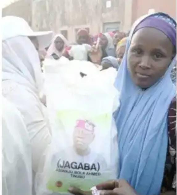 See Photos As Tinubu begins distribution of bags of rice