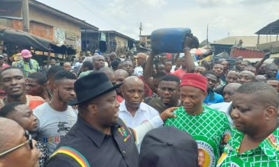 See Photos As Senator Ubah Visits Burnt Mgbuka Nkpor Market