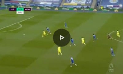 Watch Moment As Willock Open Fire Against Leicester City