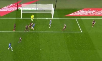 Watch Azpilicueta Great Miss Against Leicester city to put Chelsea in front