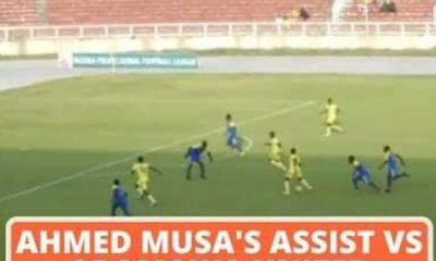 Watch Ahmed Musa Wonderful Debut Assist